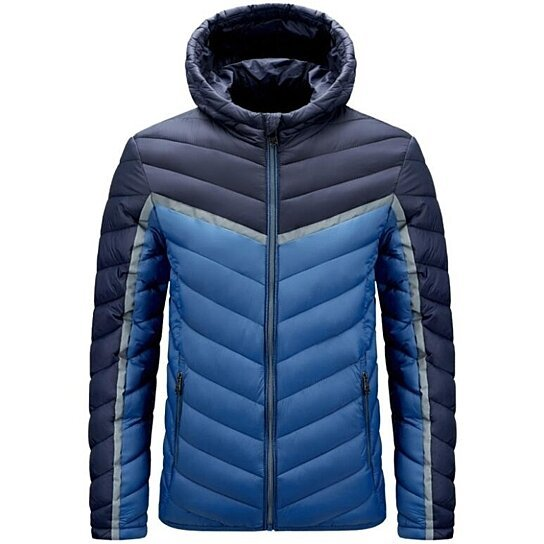Mens Winter Hooded Thick Puffer Jacket