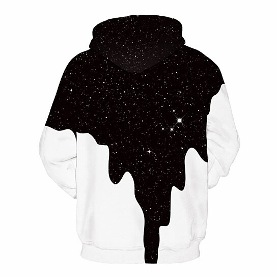 Men Hoodies 3D Sweatshirt Print Spilled Milk Space Galaxy Hooded Hoodies Thin Unisex Pullovers Tops