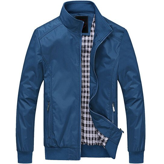 New 2018  Spring  Jacket  Men  Mandarin Collar Casual Clothing Outerwear Plus Size M-5XL