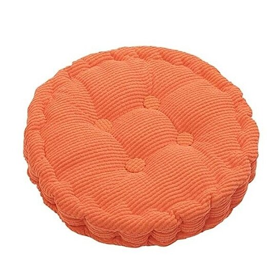 Outdoor Round Seat Cushions Solid Color Indoor Chair Pads EPE Cotton Filled Boosted for Patio Office Kitchen (17.72 inches in Diameter)