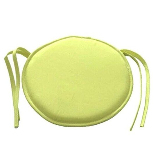 Round Chair Pads for Outdoor Seat Indoor Chair Cushion Pads with Ties for Office Kitchen Dining Room Patio 2 Packs 15.7 Inches