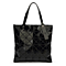 Women Shoulder Handbag Hologram Geometric Split Joint Plaid  Handbag