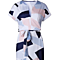 Womens Dresses Summer Casual V-Neck Floral Print Geometric Pattern Belted Dress