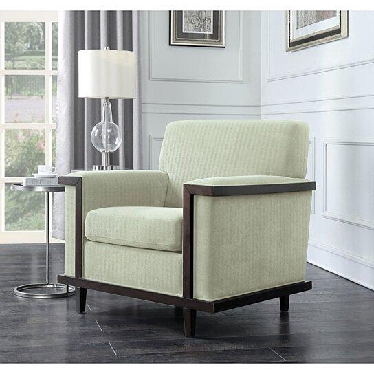 Sqaure Mid Century Modern Accent Chairs.Adrian Retro Modern Wood Trim Detailed Herringbone Chenille Club Chair