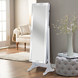 Charm Mirror Border Rectangular Jewelry Storage Armoire Cheval Mirror Full-length