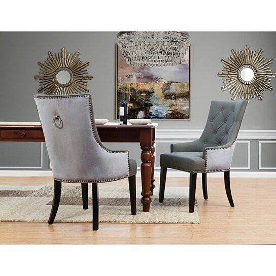 Buy Gideon 2 Pc Dining Side Chair Pu Leather Velvet