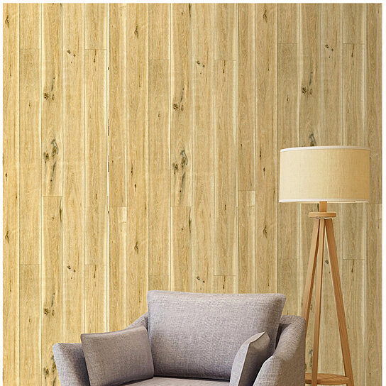 Buy Peel And Stick Wood Plank Wallpaper Self Adhesive Wood Grain Wall Paper Murals Brown Yellow 17 7 X 19 7ft By D N North America Inc On Dot Bo
