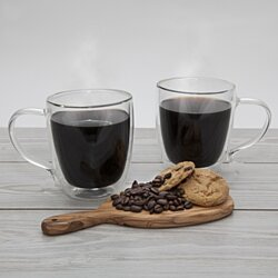 20 OZ Borosilicate Glass Coffee Mugs With Handles – Clear Glass Mug Set