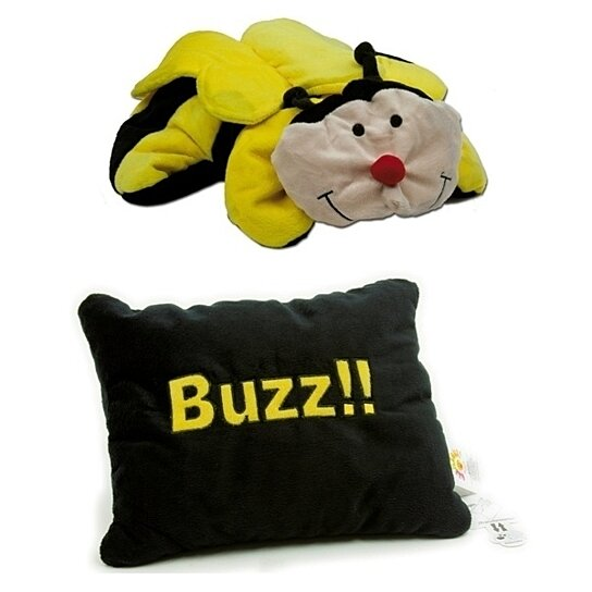 Reversible Animal Pillow : Buy Get Me Out Decorative Pillows Reversible Soft Plush Pillow Pet Bee by IcyDeals on OpenSky
