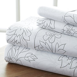 The Home Collection Premium Ultra Soft 4 Piece Vine Bed Sheet Set