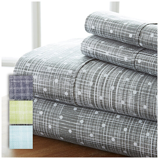 Buy home collection premium ultra soft 4 piece polka dot for How to buy soft sheets