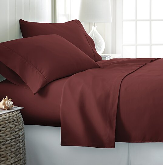 Buy Home Collection Wrinkle Free 4 Piece Sheet Set In 14 Colors By Ienjoy  Home On Dot U0026 Bo