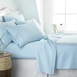Home Collection Premium Ultra Soft  6 Piece Bed Sheet Set - 13 Colors