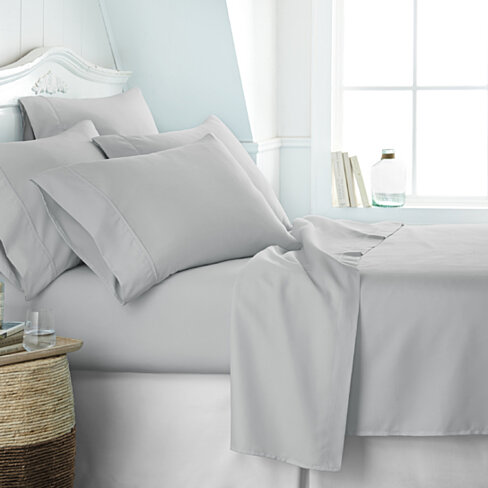 Egyptian Comfort 1800 Series 6 Piece Bed Sheet Set in 14 Colors