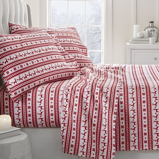 Buy Home Collection Premium Reindeer Print 4 Piece Flannel Bed Sheet Set By  Ienjoy Home On OpenSky