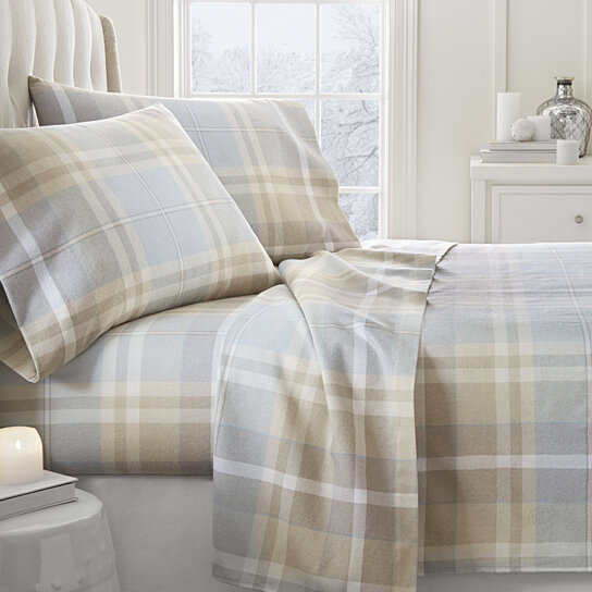 Buy Home Collection Premium Ultra Soft Plaid 4 Piece Flannel Bed Sheet Set  By Ienjoy Home On Dot U0026 Bo