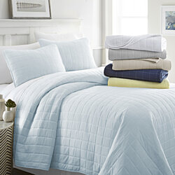 Soft Essentials Quilted 3 Piece Coverlet Square  Set