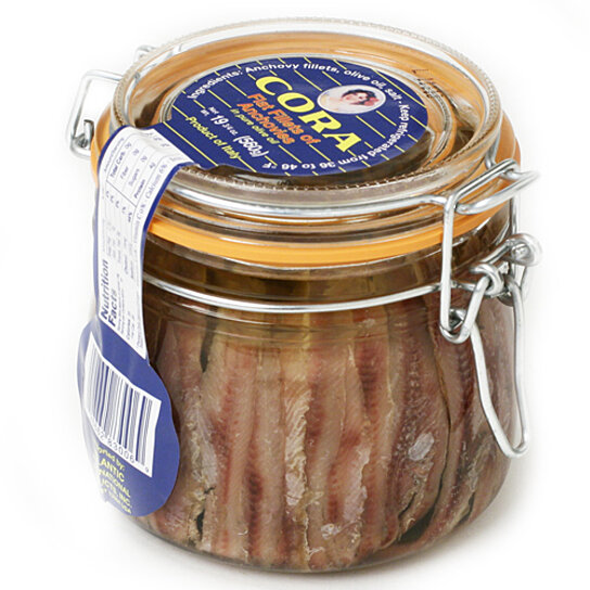 Buy Italian Anchovy Fillets In Bail Top Glass Jar By