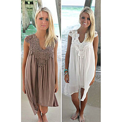 Loose Sleeveless Lace Dresses