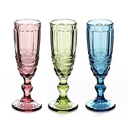 3 Colors Elegant Toasting Flutes Wine Series Champagne Creative Handmade Retro Relief Designed