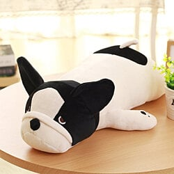 Cute Plush Stuffed Animal Pillow Soft Huggable Bulldog Doll Cushion Toys Gift for Baby Toddler, 50CM/19.5''