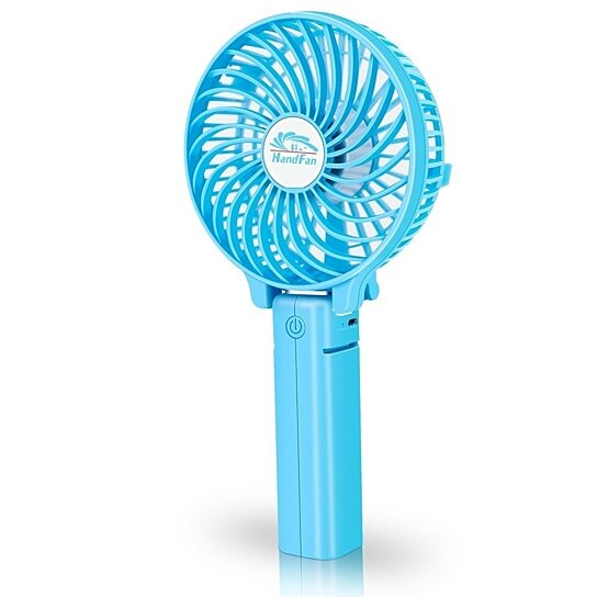 Mini Handheld Fan Foldable Personal Portable Desk Desktop Table Cooling With Usb Rechargeable Battery Operated Electric For Office Room Outdoor