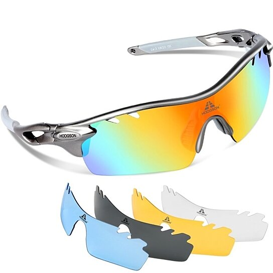 dce4ef4e5c3 Buy Polarized Sports Sunglasses with 5 Interchangeable Lenses Men Women  Cycling Baseball Running Fishing Driving Golf Glasses