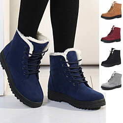 Winter Lace-up Waterproof Snow Boots