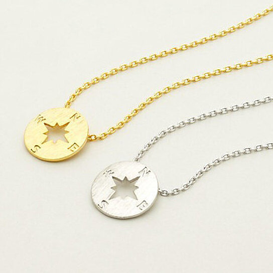 Buy dainty gold silver compass necklace graduate gift dainty gold silver compass necklace graduate gift inspirational necklace travel jewelry bridesmaid aloadofball Image collections