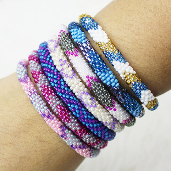 beaded gg s stone natural bead bracelets deals groupon metal men spartan jewellery and cm