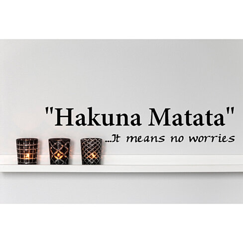 Buy Hakuna Matata.. It means no worries Vinyl Wall Decal ...