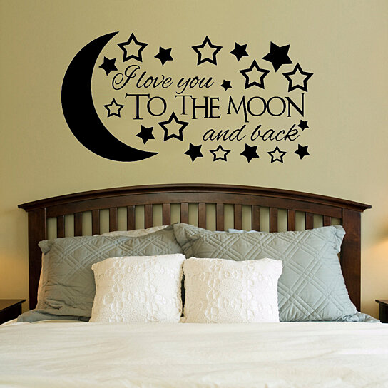 buy i love you to the moon and back vinyl wall decal. Black Bedroom Furniture Sets. Home Design Ideas