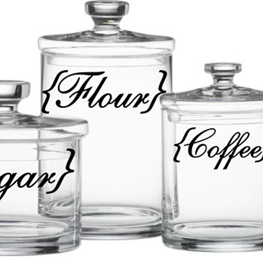 Buy Kitchen Canister Labels Flour Sugar Coffee Rice Vinyl