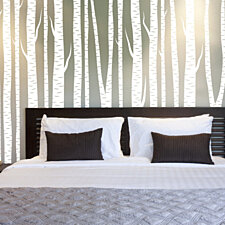 Large Wall Birch Tree Wall Decal Forest Vinyl Sticker Removable Create your own length