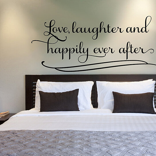 Buy Love Laughter and Happily Ever After.. Couples Romantic Bedroom ...