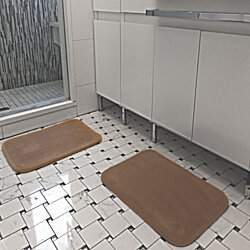 2-Pack: Ultra Soft Memory Foam Bath Mat