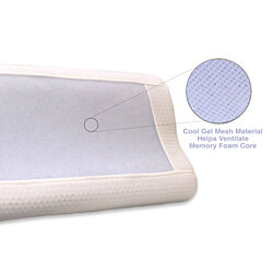Memory Foam Pillow with Cool Gel Infused Core