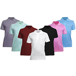 Men's Essential Ultra-Soft Cotton Polo Shirts, Multiple Colors