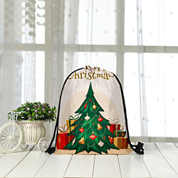 Holiday Drawstring Bag