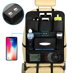 USB Car Phone Charger Back Seat Organizer