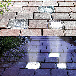 Solar Powered LED Ice Crystal Pathway and Garden Lights
