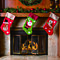 3 Pack Burlap Accent Christmas Stocking Set  Santa & Friends Christmas Stocking Holders