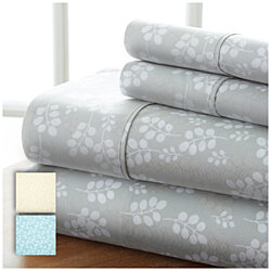Soft Essentials 4 Piece Premium Wheatfield Patterned Bed Sheet Set