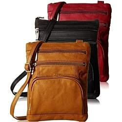Ultra-Soft Leather Crossbody Bag, Multiple Colors