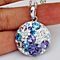 SALE :: Periwinkle Pendant Necklace Platinum Plated