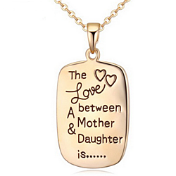 The Love Between A Mother and Daughter is ... Necklace