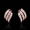 Three Rows Huggie Earrings - 18K Italian Rosegold Plated or Platinum Plated