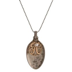 Vintage Spoon Monogram Necklace