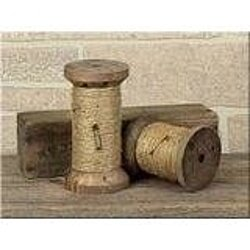 Vintage Twine Wooden Spool Set