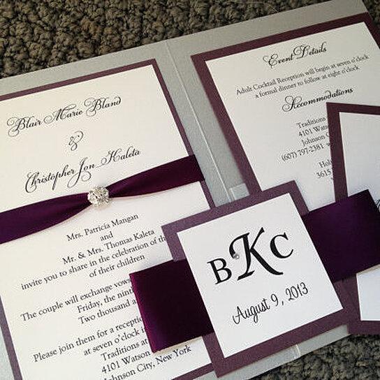 Complete Wedding Invitation Kits: Buy Simple Elegance Pocket Wedding Invitation By INK